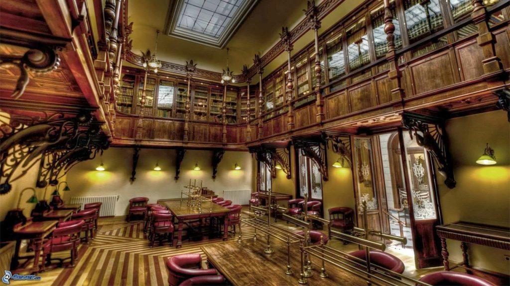 Sala di lettura nell'università di Harvard