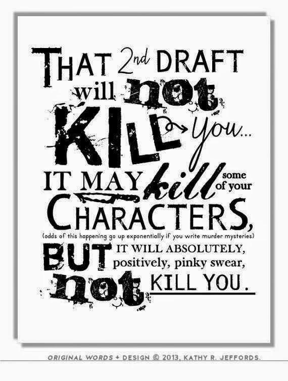 poster sulla seconda stesura del romanzo
