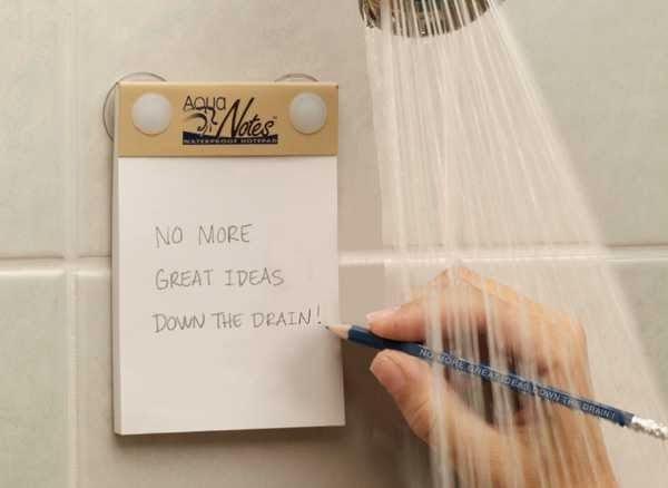 regali per scrittori: notes per doccia
