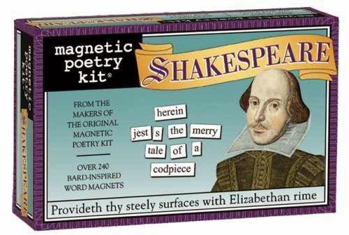 regali per scrittori: magneti di Shakespeare