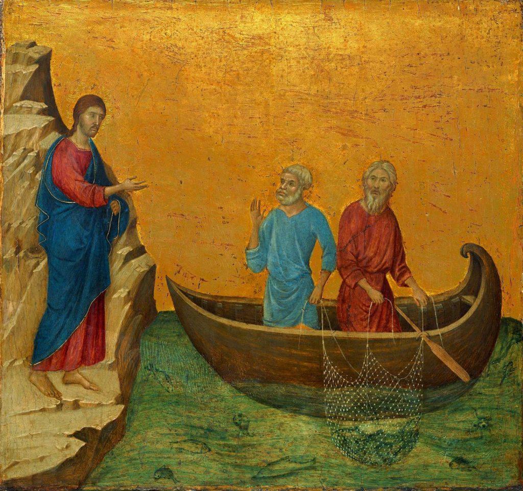 Vocazione di Pietro e Andrea - Duccio da Buoninsegna