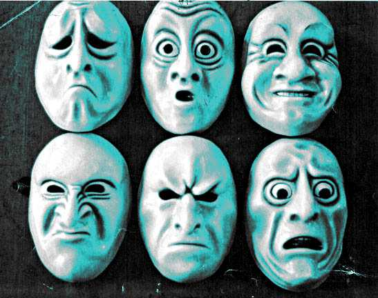 accendere l'emozione: maschere