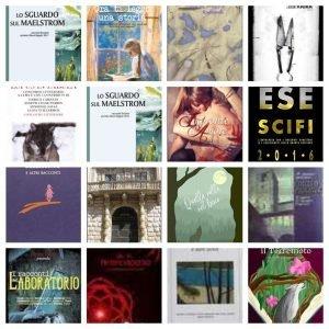 Leggi un mio racconto: collage di copertine di antologie che contengono miei racconti