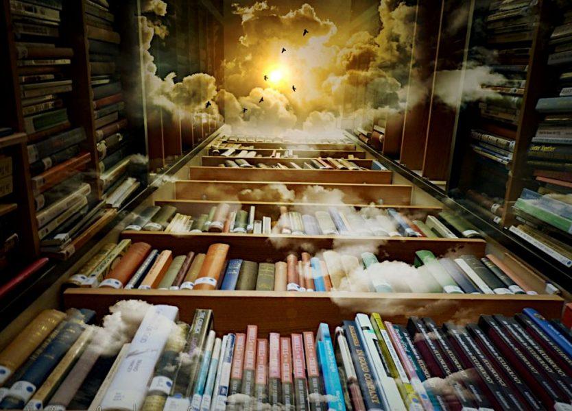 Biblioteca con scaffali che arrivano al cielo. Non sarà già stato tutto scritto? Ci sono ottimi motivi per non scrivere...