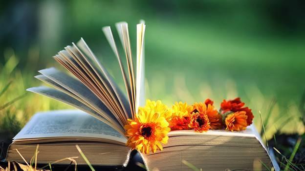 Libri, fiori... ma con tutte le loro manie, a volte gli scrittori sono ridicoli.