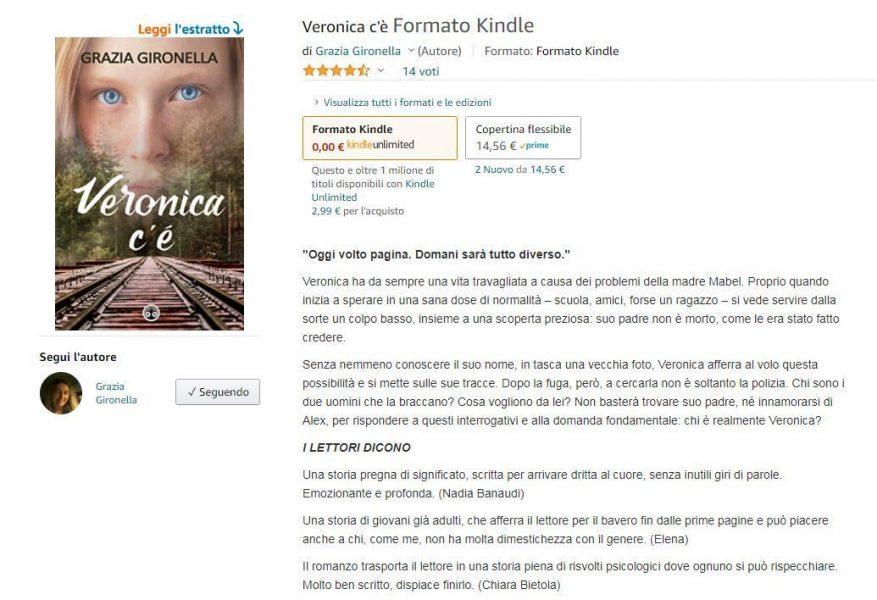 Con le chiacchiere di Natale, anche una nuova pagina Amazon per Veronica c'è.