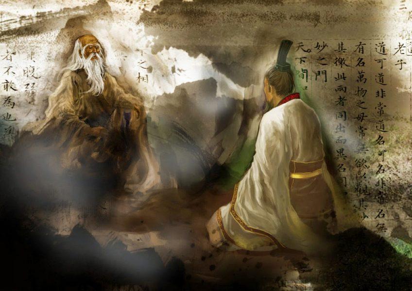 Incontro tra Confucio e il vecchio Laozi, autore del Tao Te Ching.